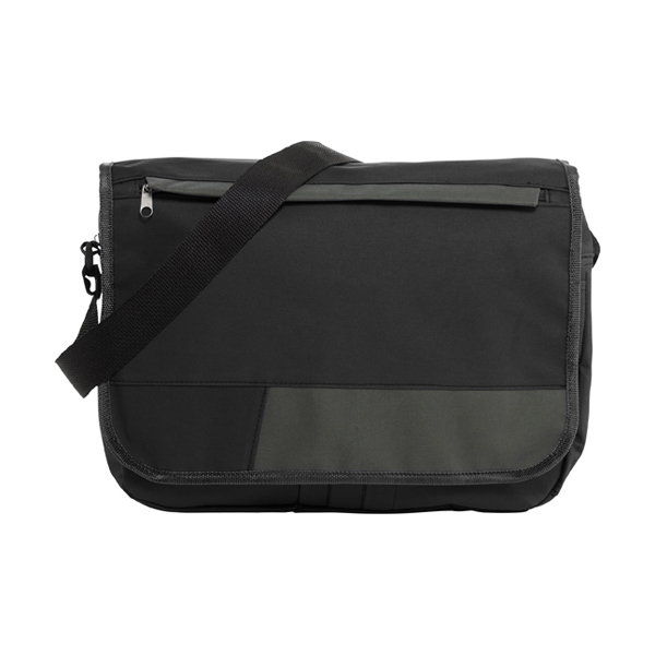 Polyester 600D document bag. in black