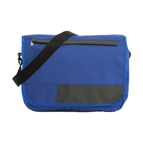 Polyester 600D document bag. in cobalt-blue