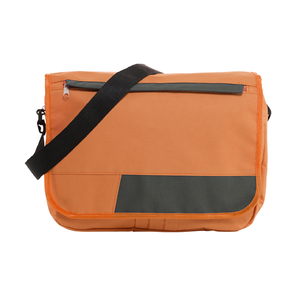Polyester 600D document bag. in orange