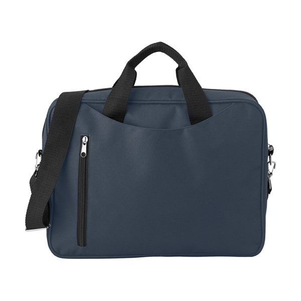 Polyester laptop bag. in blue