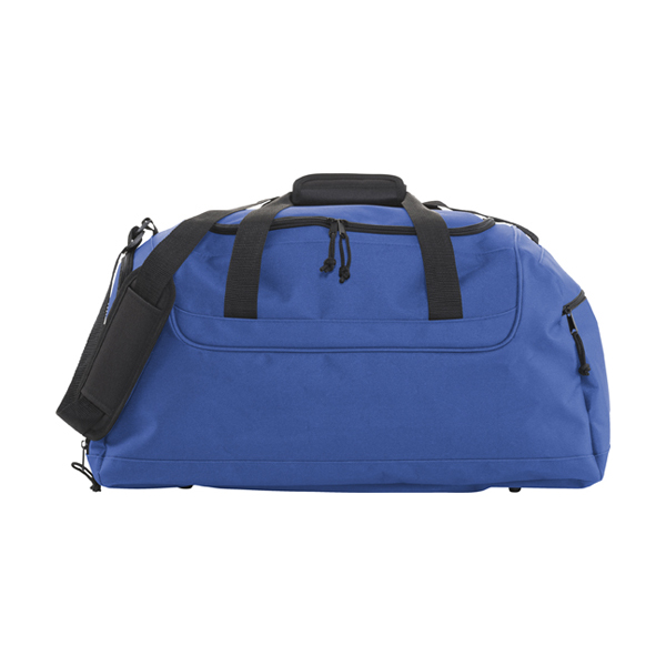 Polyester 600D travel bag. in cobalt-blue