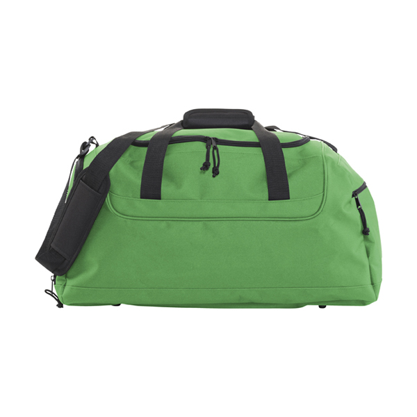 Polyester 600D travel bag. in green
