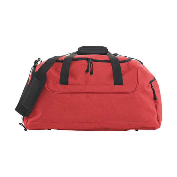 Polyester 600D travel bag. in red