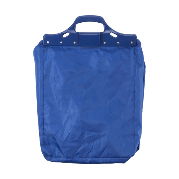 Trolley shopping bag. in cobalt-blue