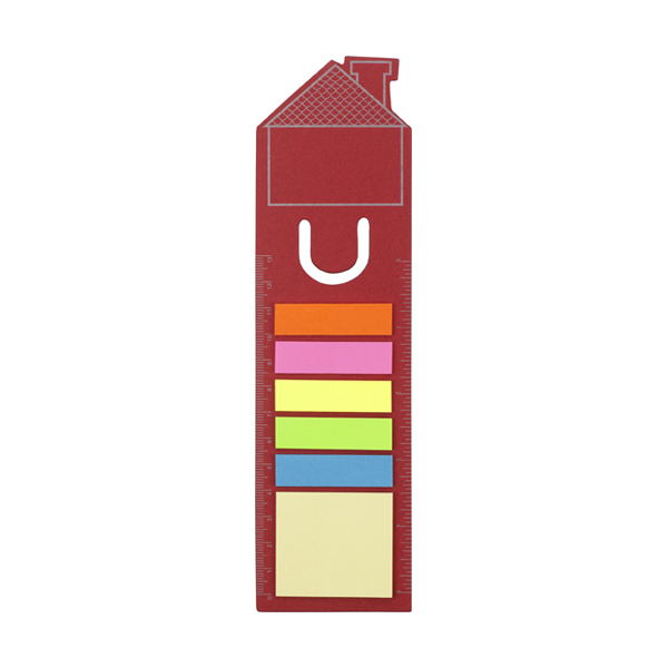 House bookmark in red