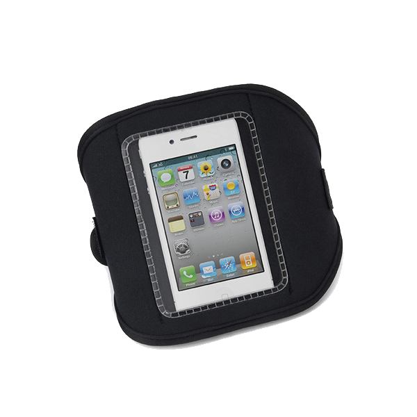 Neoprene armband for a phone. in red