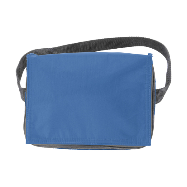 Six can polyester cooler bag. in light-blue