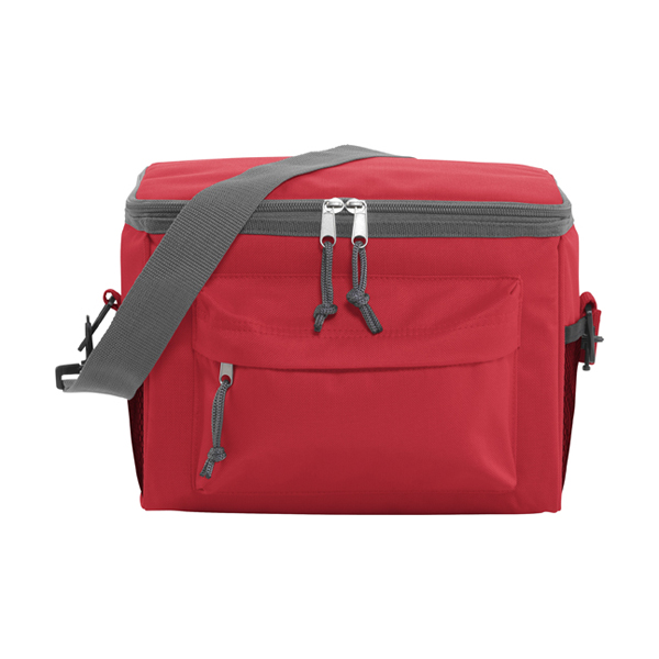Polyester 600D cooler. in red