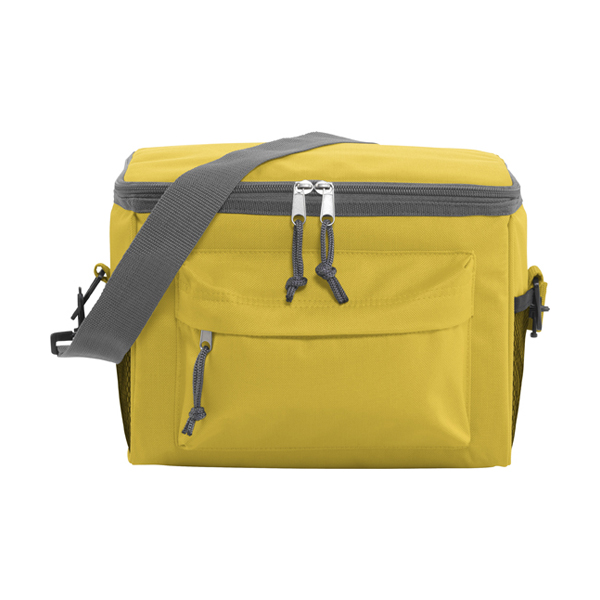 Polyester 600D cooler. in yellow