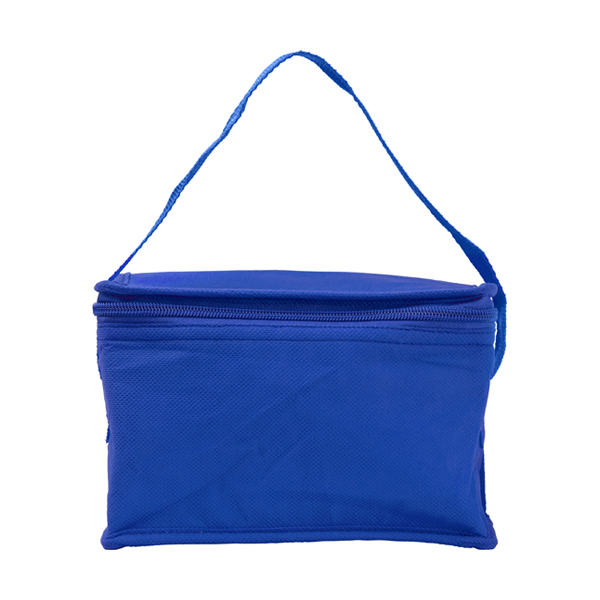Six can cooler bag. in cobalt-blue