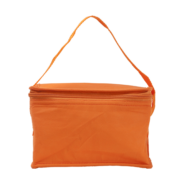 Six can cooler bag. in orange