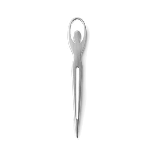 Ballerina letter opener in silver
