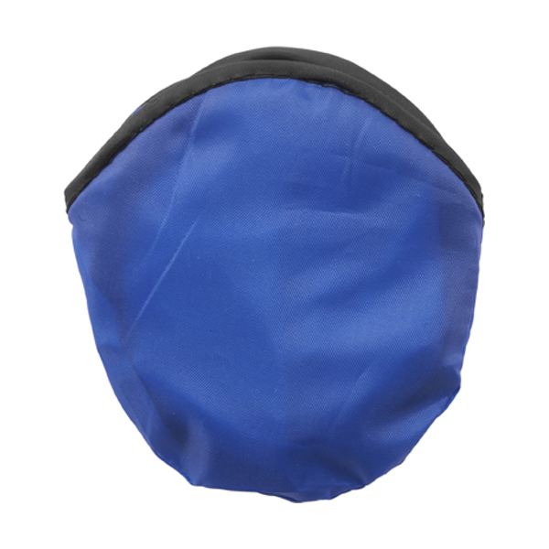 Foldable nylon frisbee in cobalt-blue