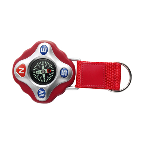 Plastic compass in red