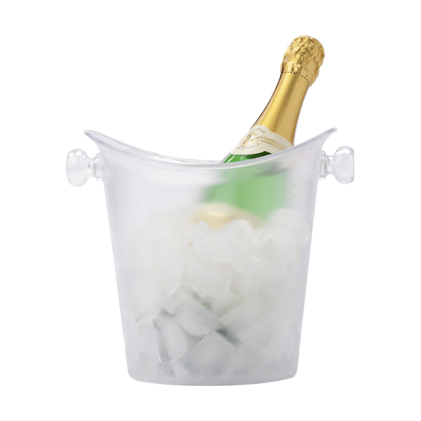 Plastic cooler/ice bucket. in transparent