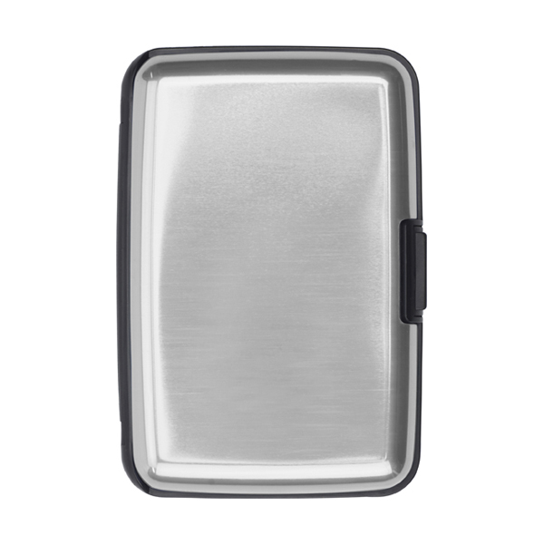 Aluminium and plastic credit/business card case in silver