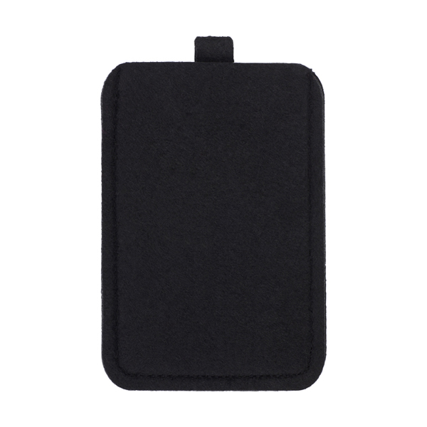 Felt mobile phone pouch. in black
