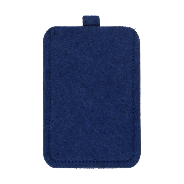 Felt mobile phone pouch. in blue