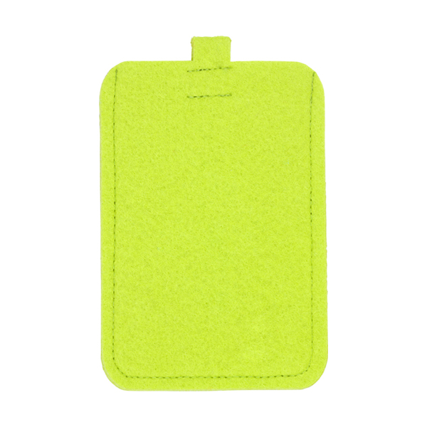 Felt mobile phone pouch. in lime