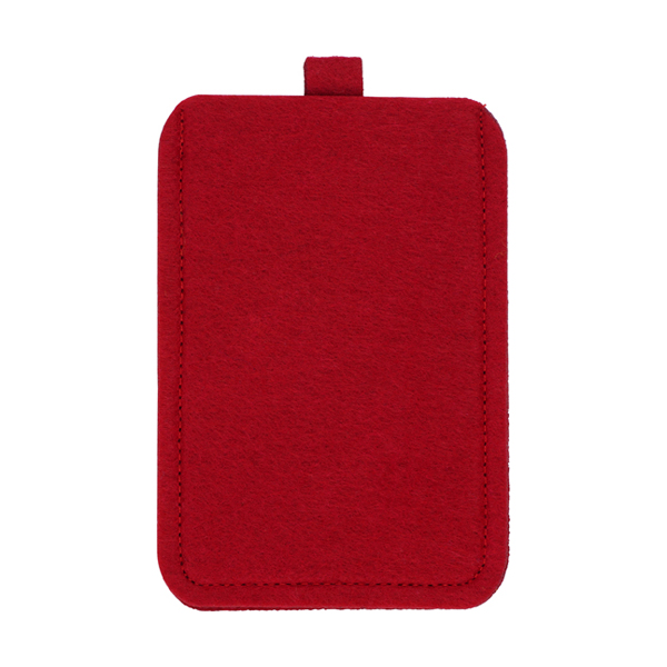 Felt mobile phone pouch. in red