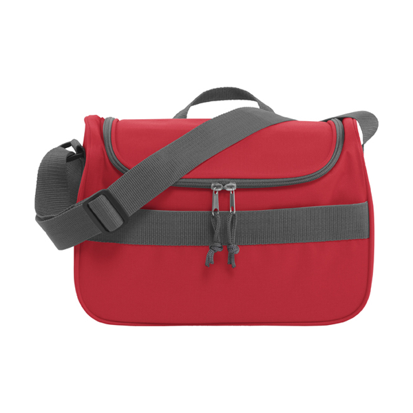 Polyester 600D cooler bag. in red