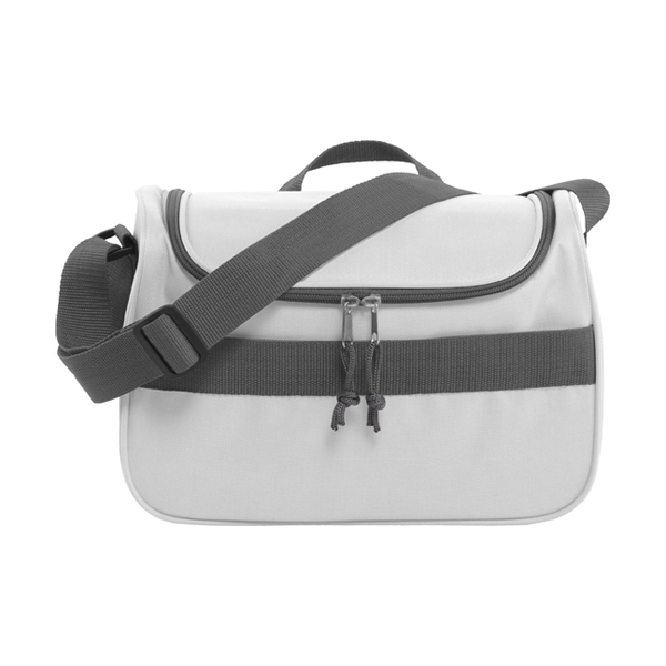 Polyester 600D cooler bag. in white