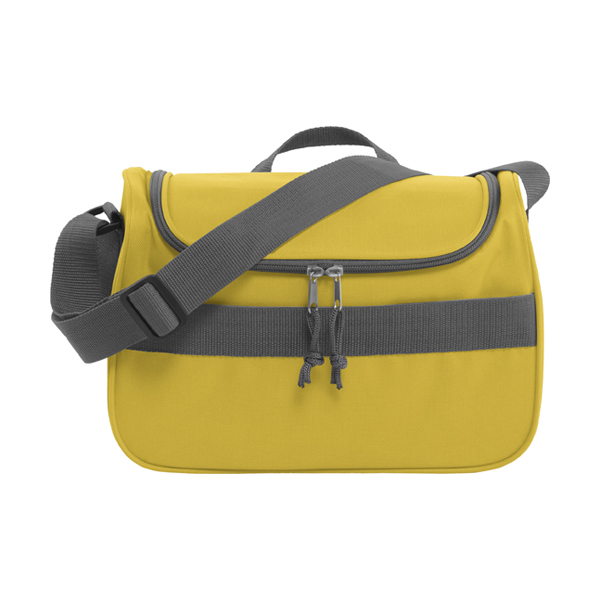 Polyester 600D cooler bag. in yellow