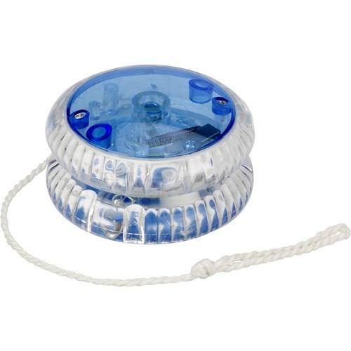 Plastic light-up yo yo. in cobalt-blue