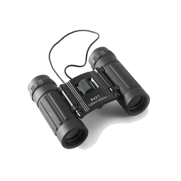 Binoculars, 8 x 21 in black