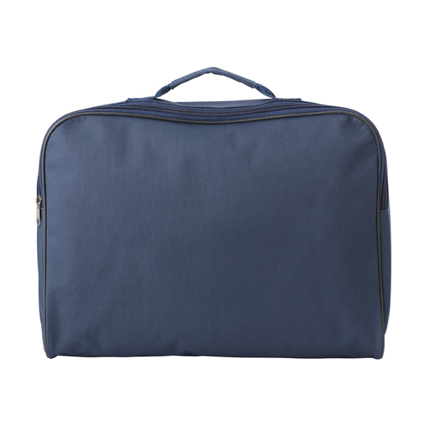 Polyester 600D document bag. in blue