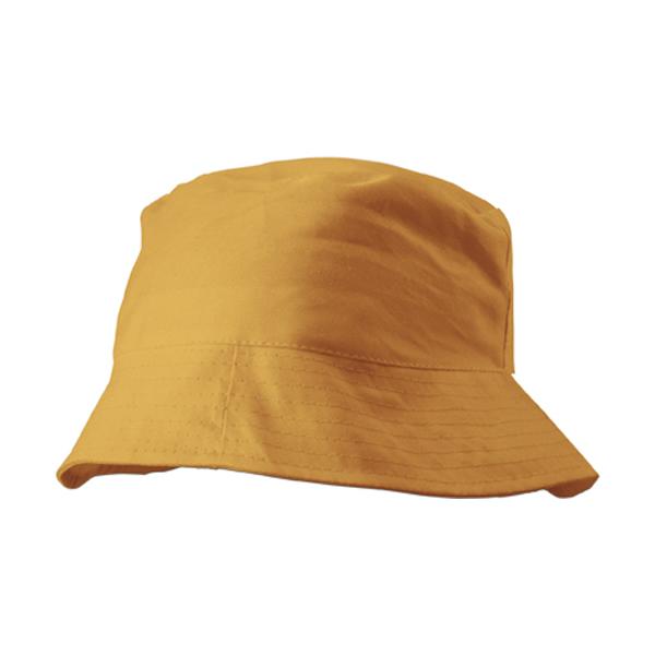 Cotton sun hat in orange