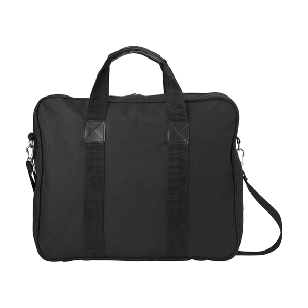 Polyester 600D reporter bag. in black