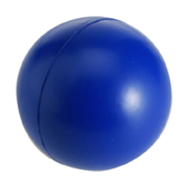 Anti stress ball in cobalt-blue