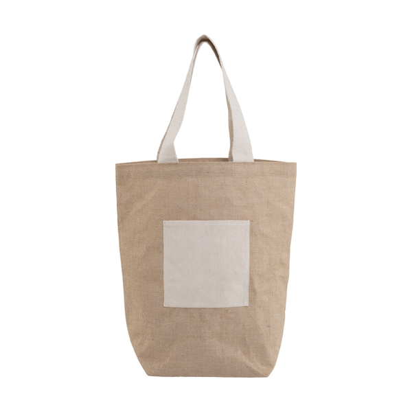 Jute and cotton beach bag. in