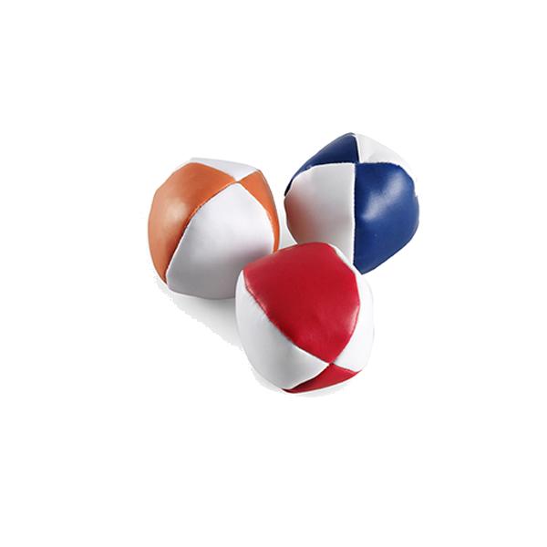 Three ball juggling set in multicoloured