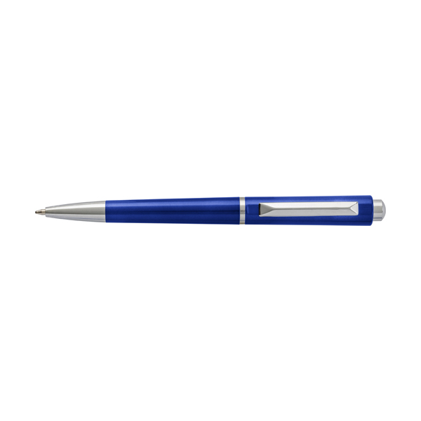 Plastic ballpen with black ink. in blue