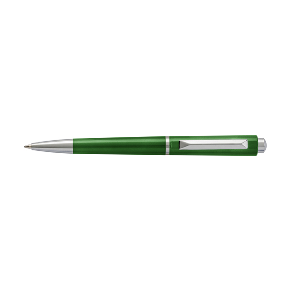 Plastic ballpen with black ink. in green
