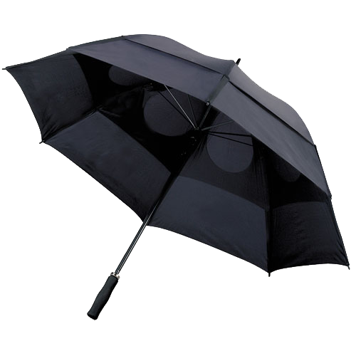 Storm-proof vented umbrella in blue