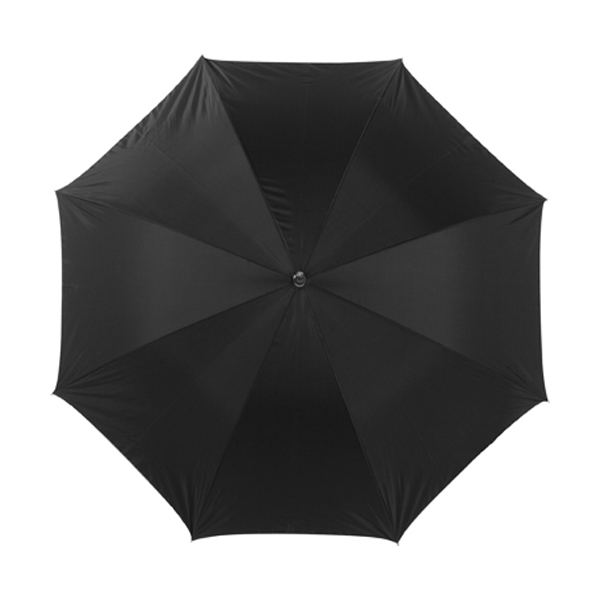 Umbrella with silver underside in black-and-silver