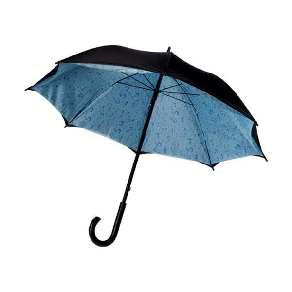Double canopy umbrella in blue