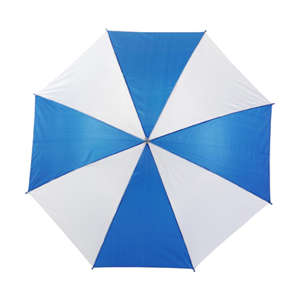 Umbrella with automatic opening. in blue-and-white