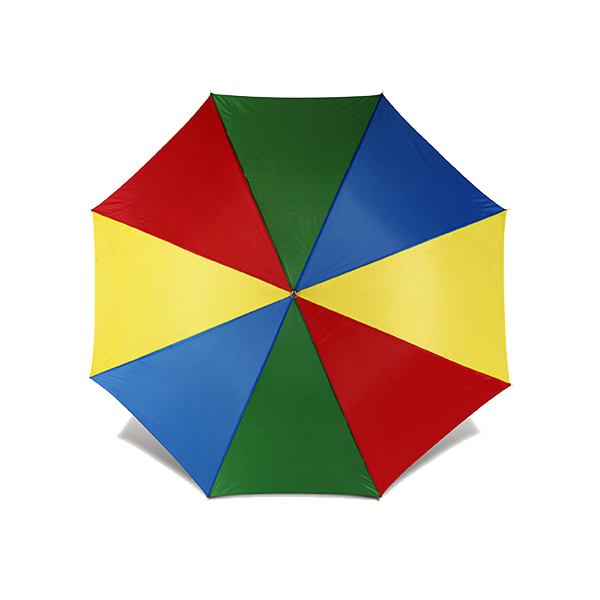 Umbrella with automatic opening. in multicoloured