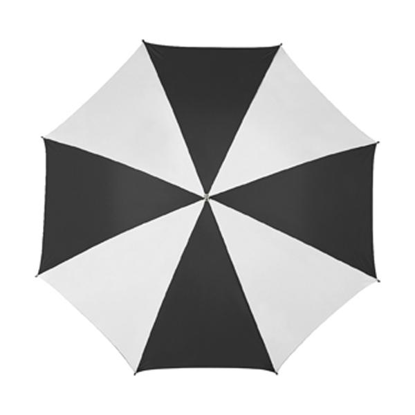 Golf umbrella in black-and-white