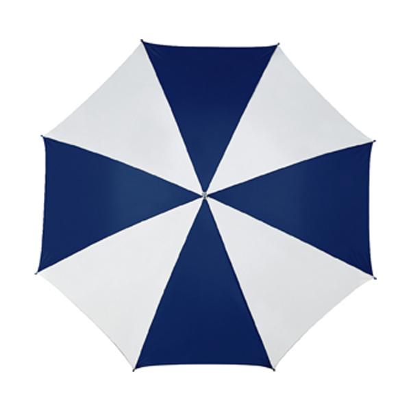 Golf umbrella in dark-blue-and-white