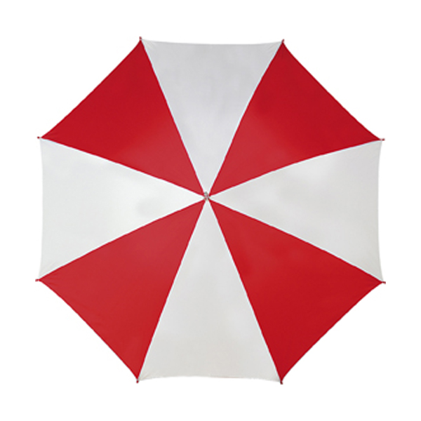 Golf umbrella in red-and-white