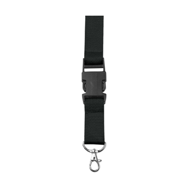 Lanyard and key holder in black