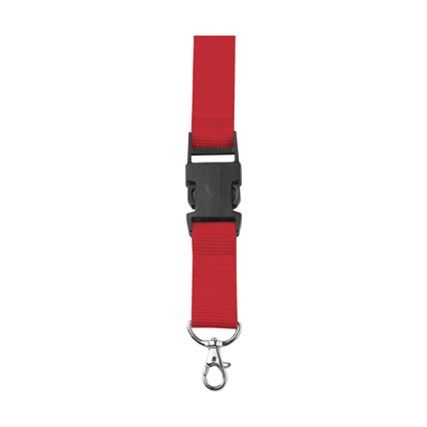 Lanyard and key holder in red