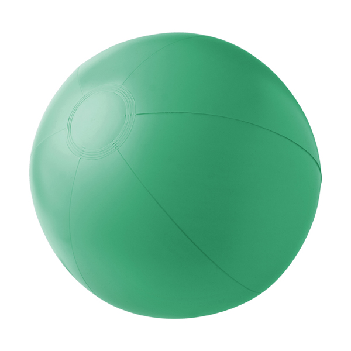 Beach ball, 35cms deflated in green