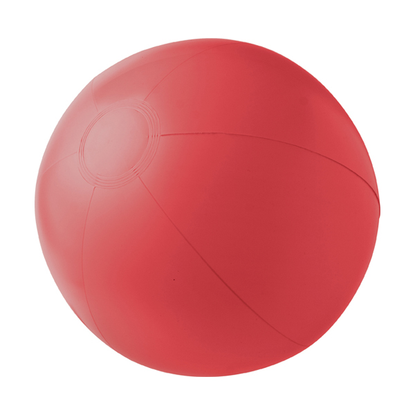 Beach ball, 35cms deflated in red