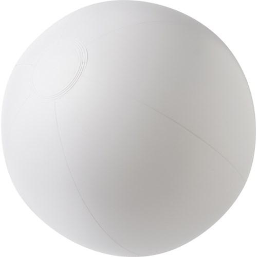 Beach ball, 35cms deflated in white